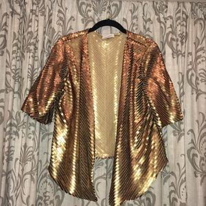 Calvin Klein Gold Sequined Blazer